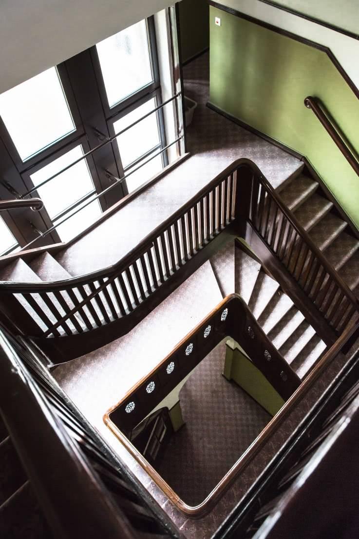 cad aufmass wohnung treppe - Projekt - Aufmaß eines historischen Gebäudes